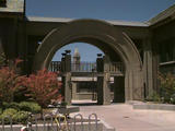 Photo of the Haas School of Business archway