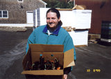 Dave with a box of lobsters